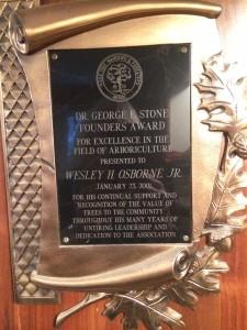 Wes Osborne-Stone Award